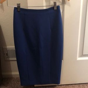 H&M pencil skirt blue size 2.